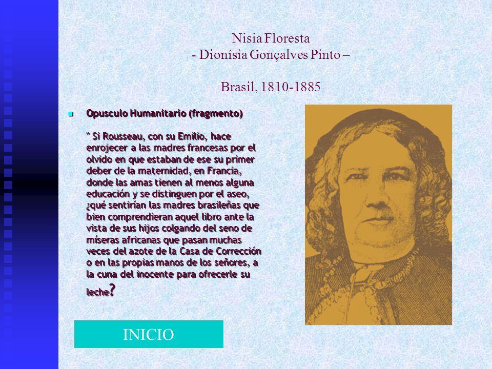 Nisia Floresta - Dionísia Gonçalves Pinto – Brasil, 1810-1885