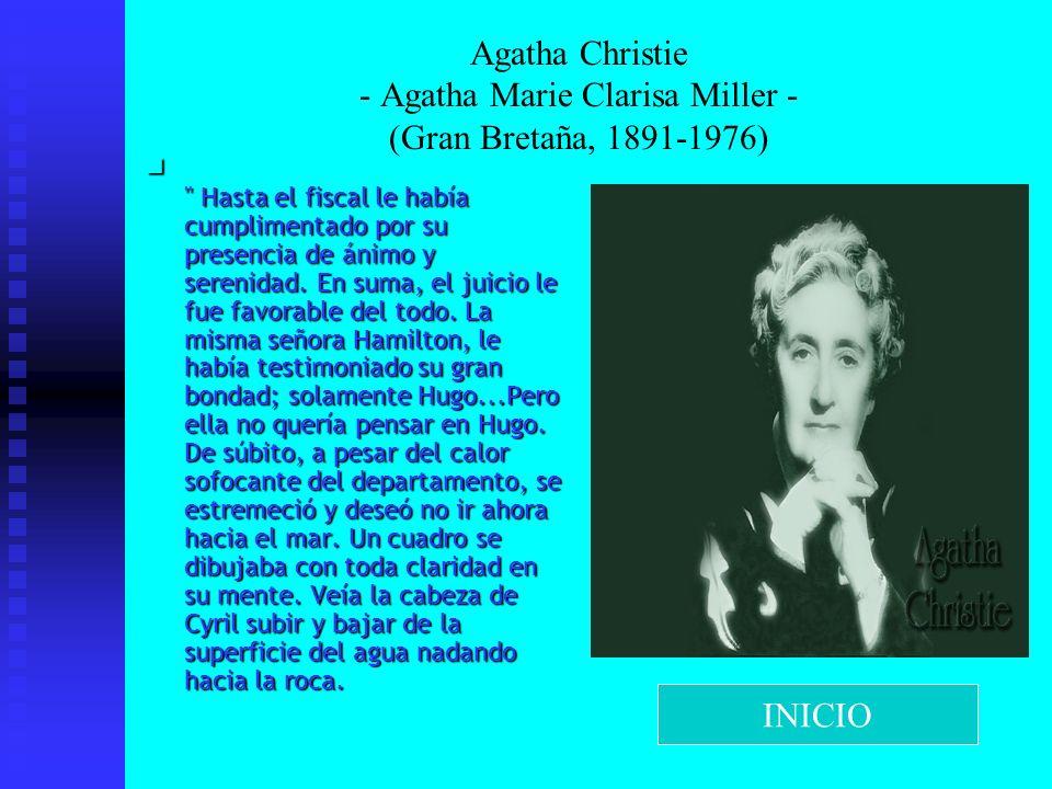 Agatha Christie - Agatha Marie Clarisa Miller - (Gran Bretaña, 1891-1976)