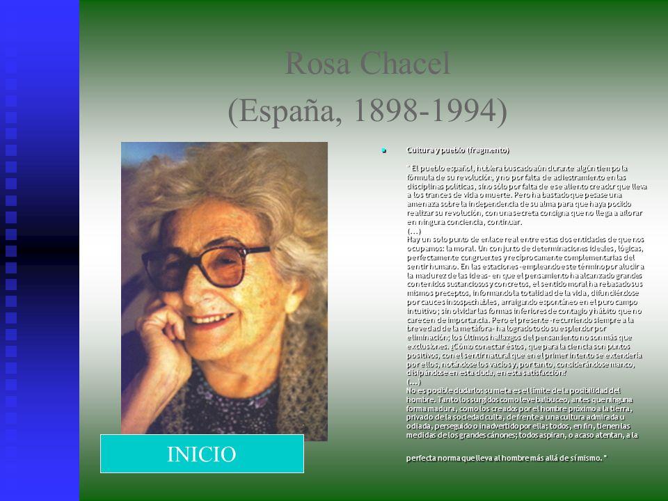 Rosa Chacel (España, 1898-1994) INICIO