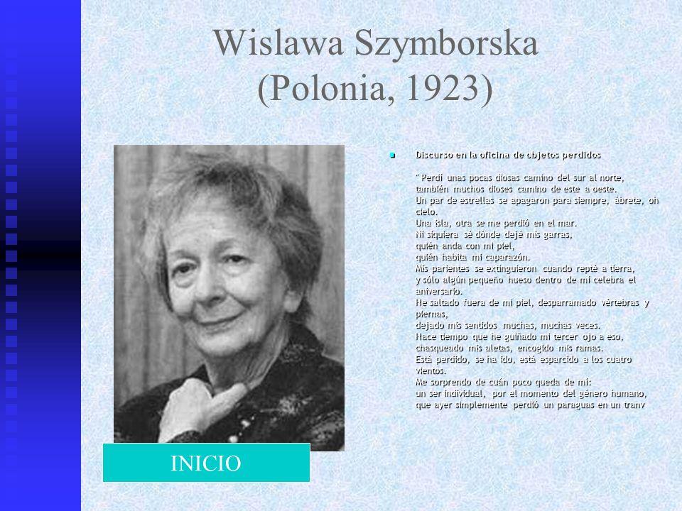 Wislawa Szymborska (Polonia, 1923)