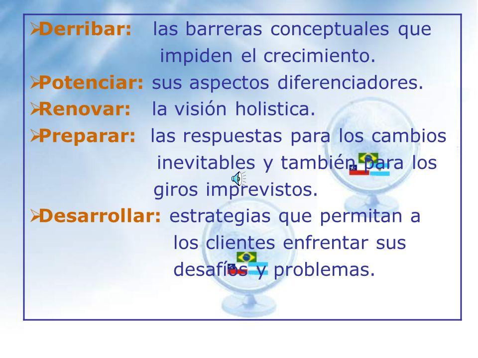 Derribar: las barreras conceptuales que