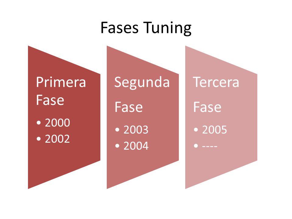 Fases Tuning Primera Fase 2000 2002 Segunda Fase 2003 2004