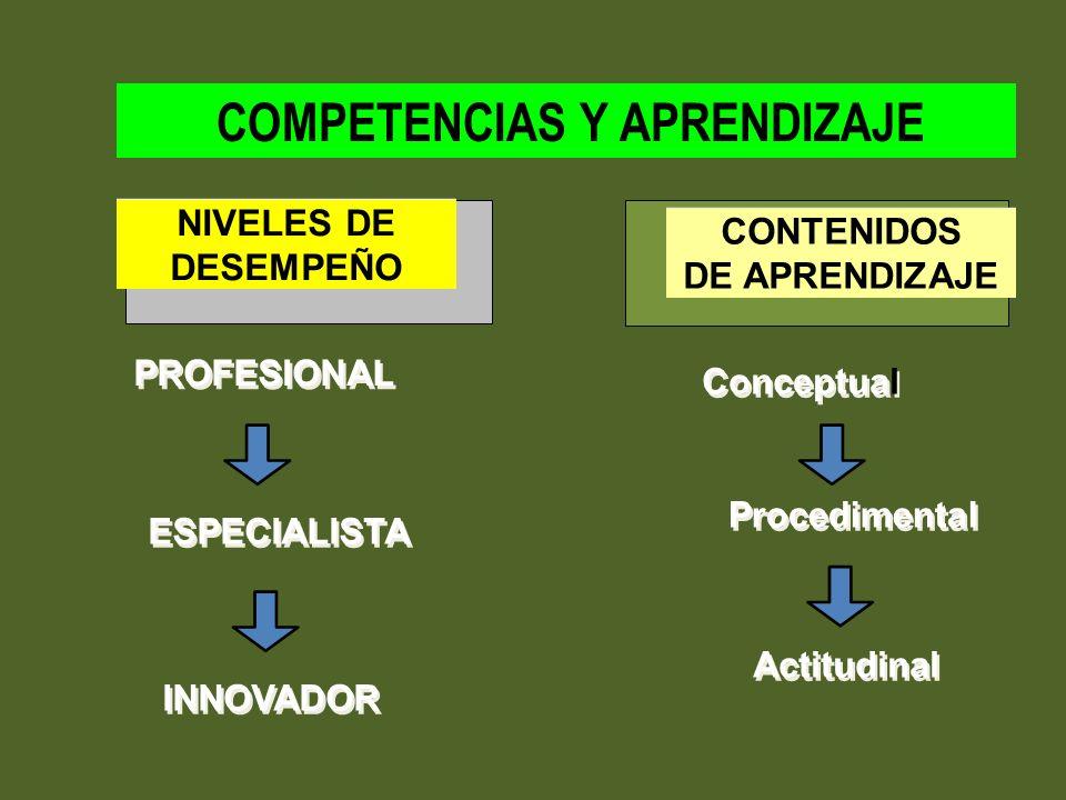 COMPETENCIAS Y APRENDIZAJE