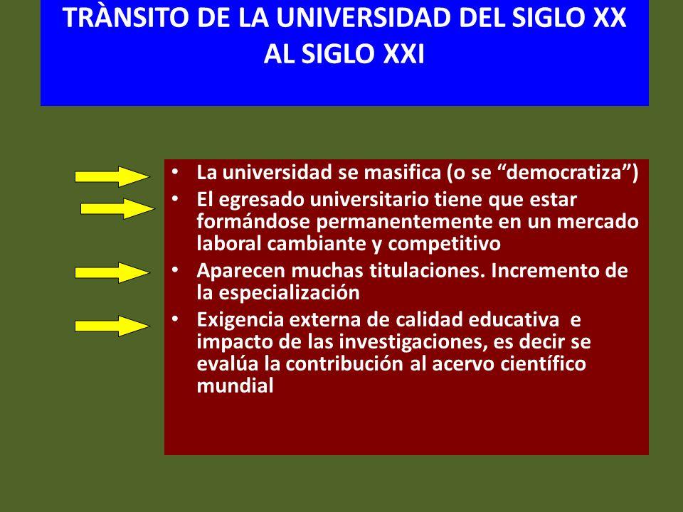 TRÀNSITO DE LA UNIVERSIDAD DEL SIGLO XX AL SIGLO XXI