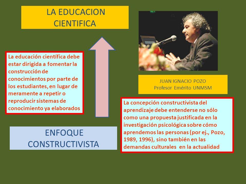 LA EDUCACION CIENTIFICA