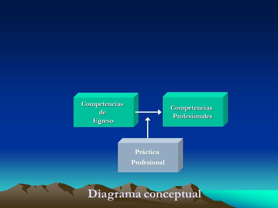 Diagrama conceptual Competencias Competencias de Profesionales Egreso