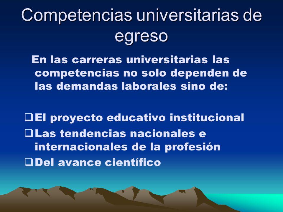 Competencias universitarias de egreso