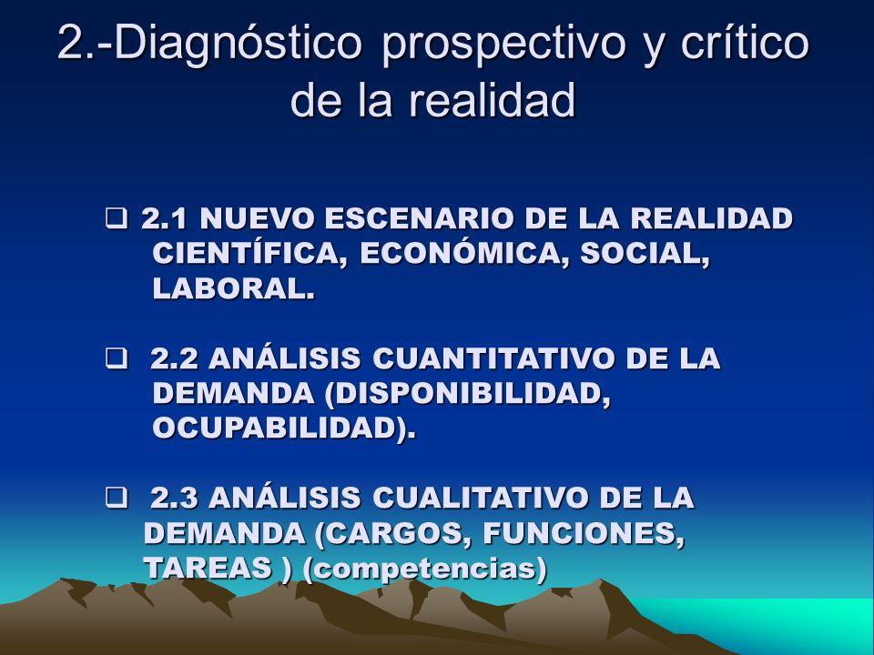 2.-Diagnóstico prospectivo y crítico de la realidad