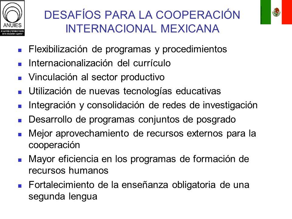 DESAFÍOS PARA LA COOPERACIÓN INTERNACIONAL MEXICANA