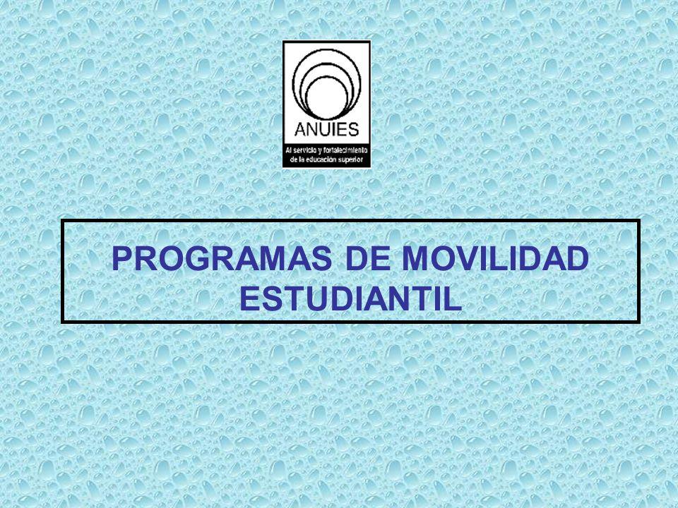PROGRAMAS DE MOVILIDAD ESTUDIANTIL