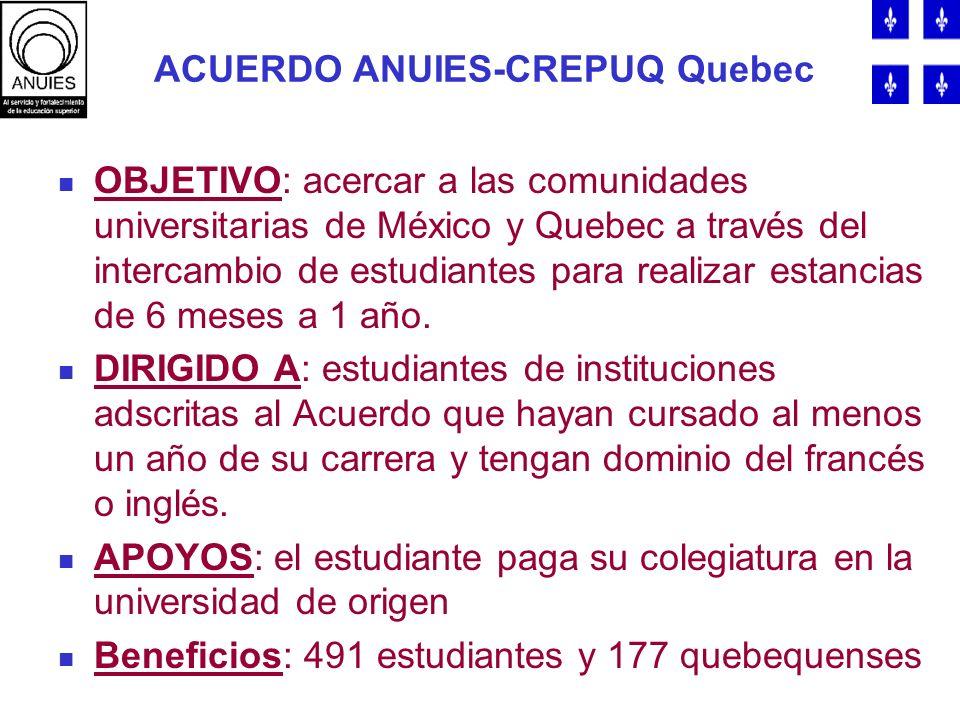 ACUERDO ANUIES-CREPUQ Quebec