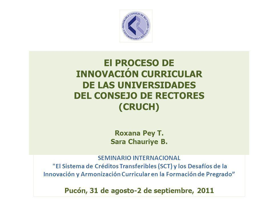 SEMINARIO INTERNACIONAL Pucón, 31 de agosto-2 de septiembre, 2011