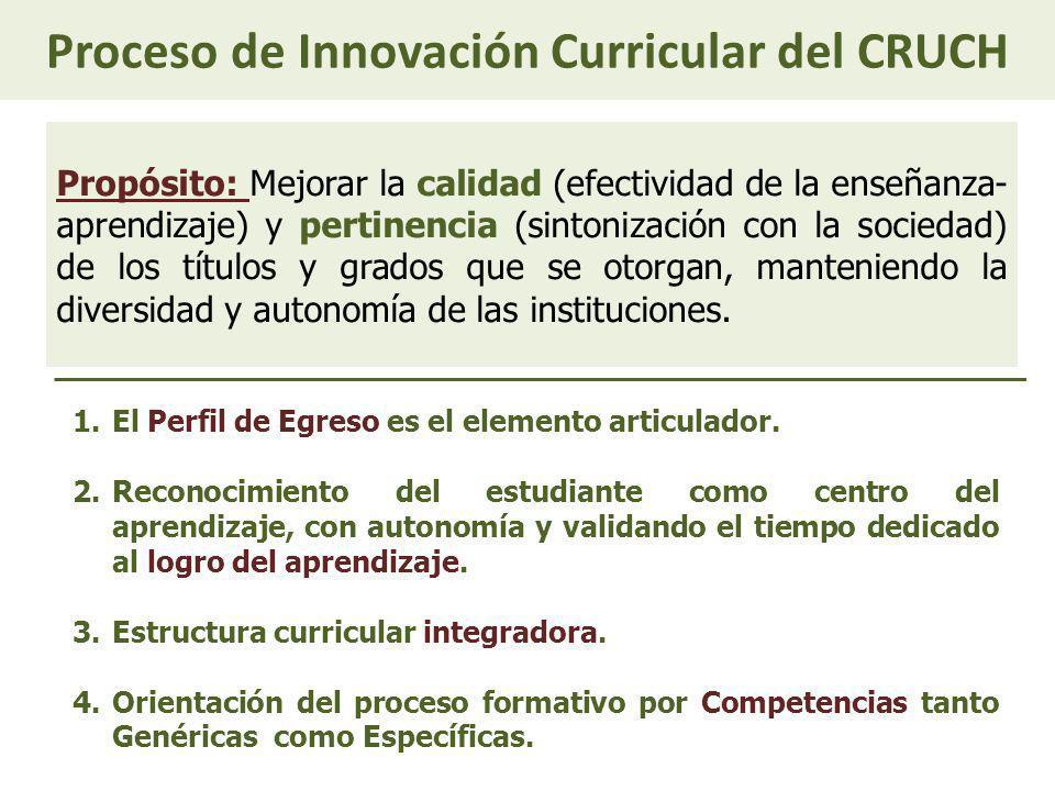 Proceso de Innovación Curricular del CRUCH