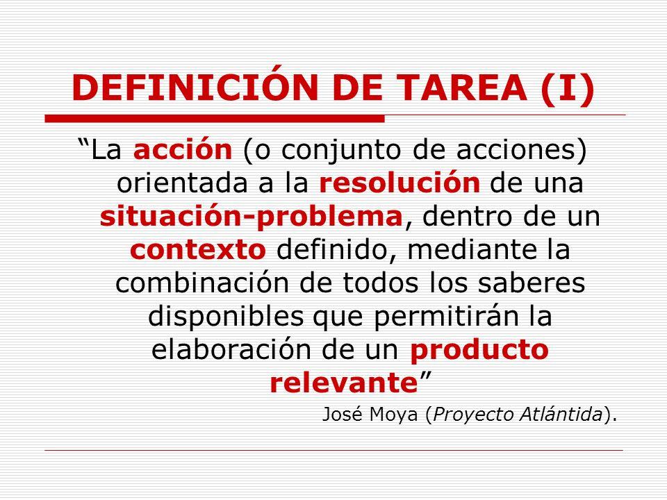 DEFINICIÓN DE TAREA (I)