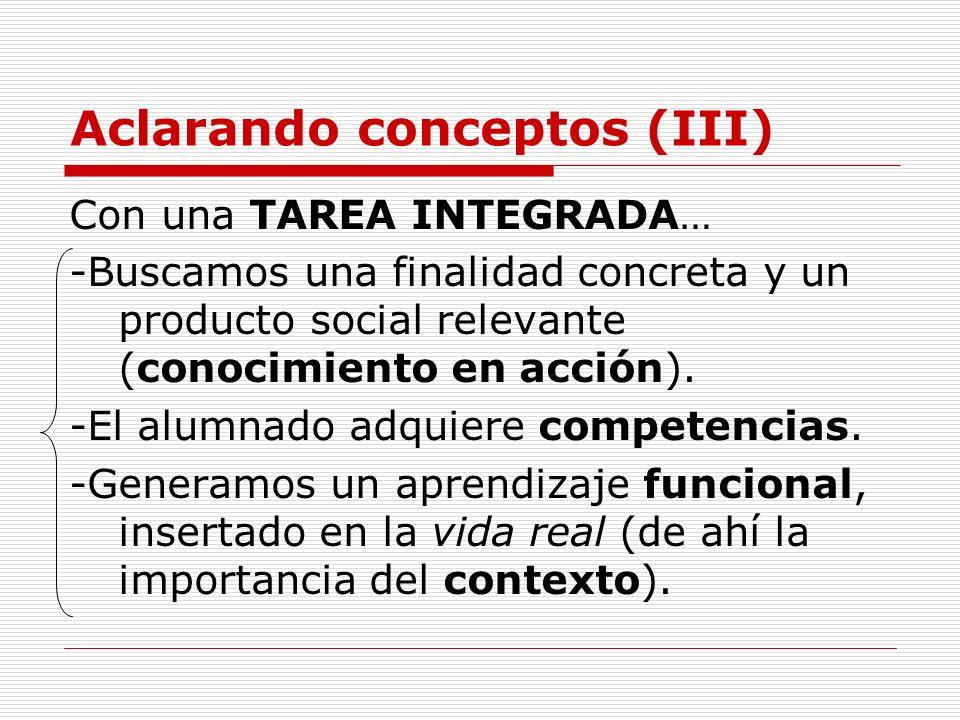 Aclarando conceptos (III)