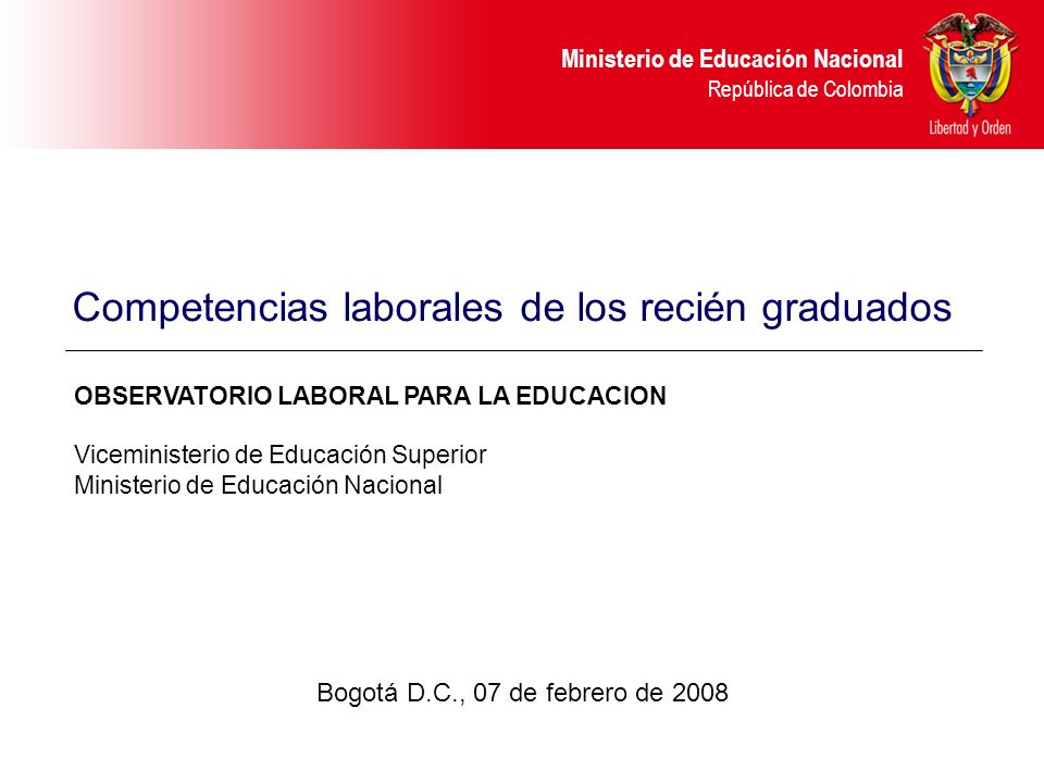 Competencias laborales de los recién graduados