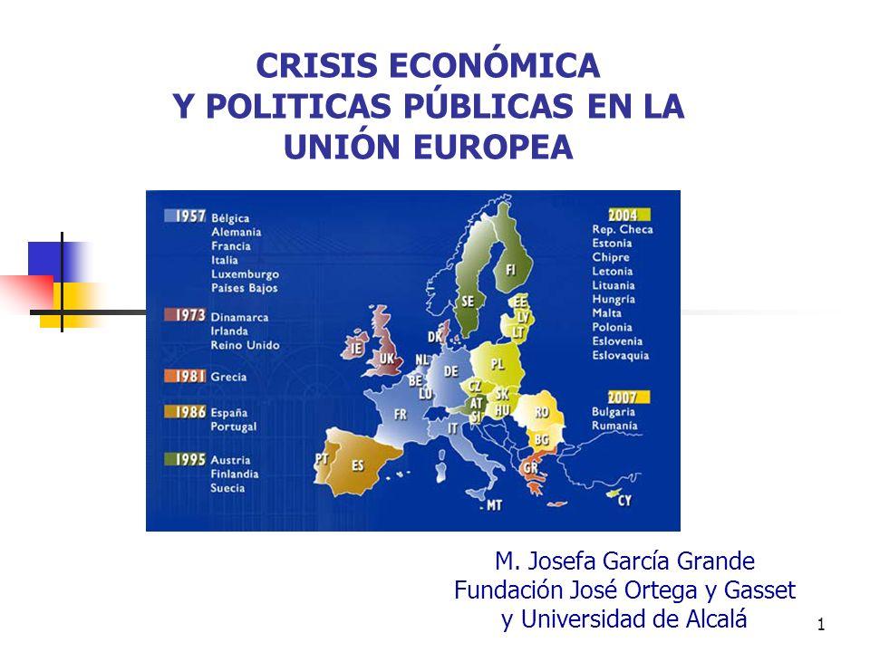 CRISIS ECONÓMICA Y POLITICAS PÚBLICAS EN LA UNIÓN EUROPEA