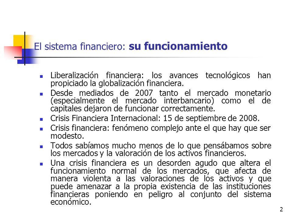El sistema financiero: su funcionamiento
