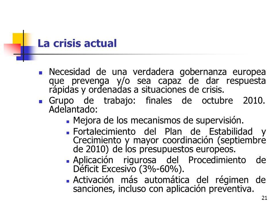 La crisis actual