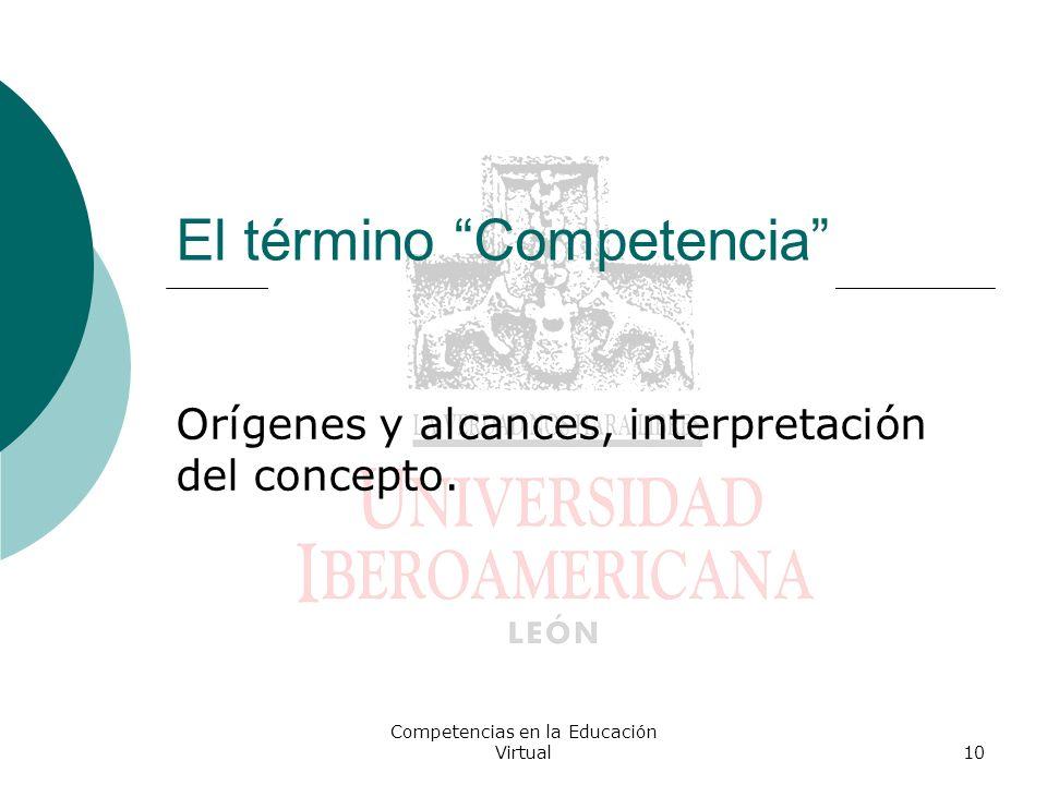 El término Competencia
