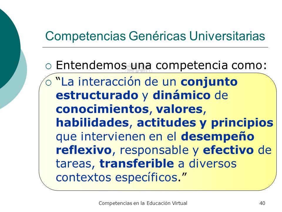 Competencias Genéricas Universitarias