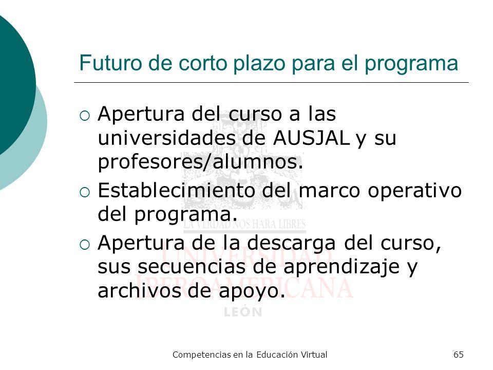 Futuro de corto plazo para el programa