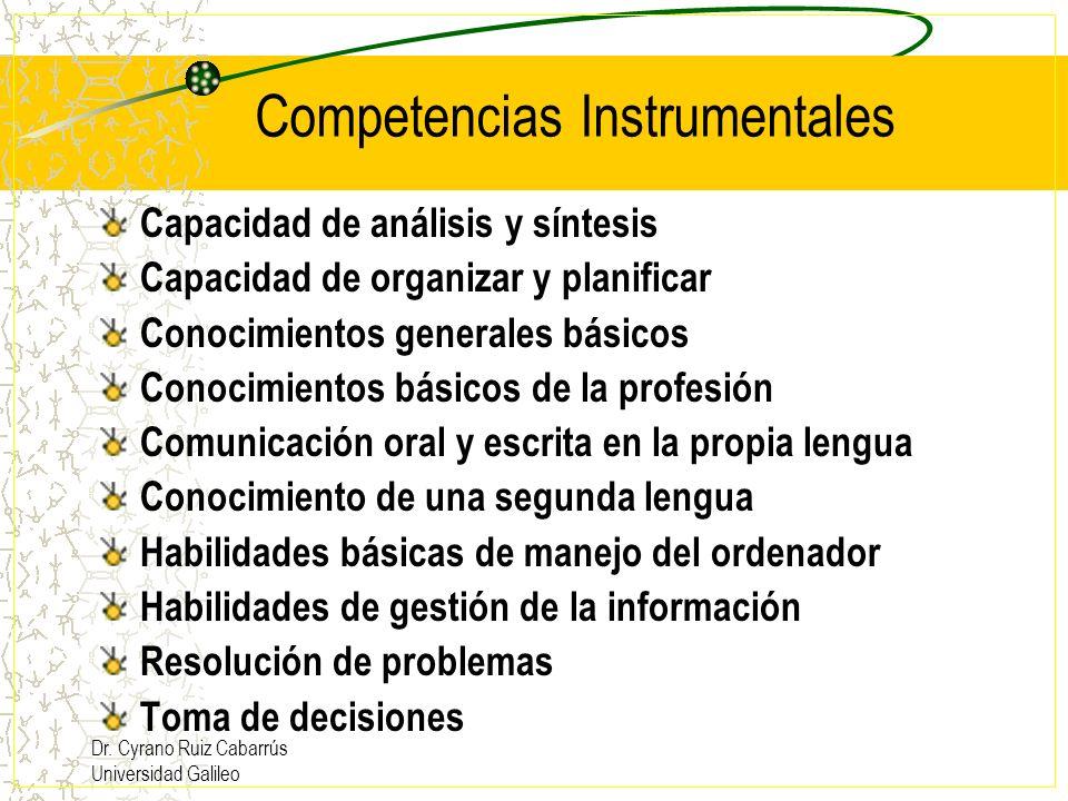Competencias Instrumentales