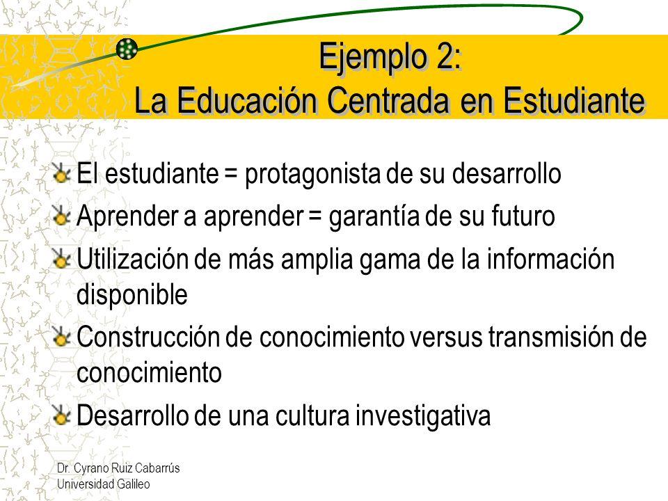 Ejemplo 2: La Educación Centrada en Estudiante