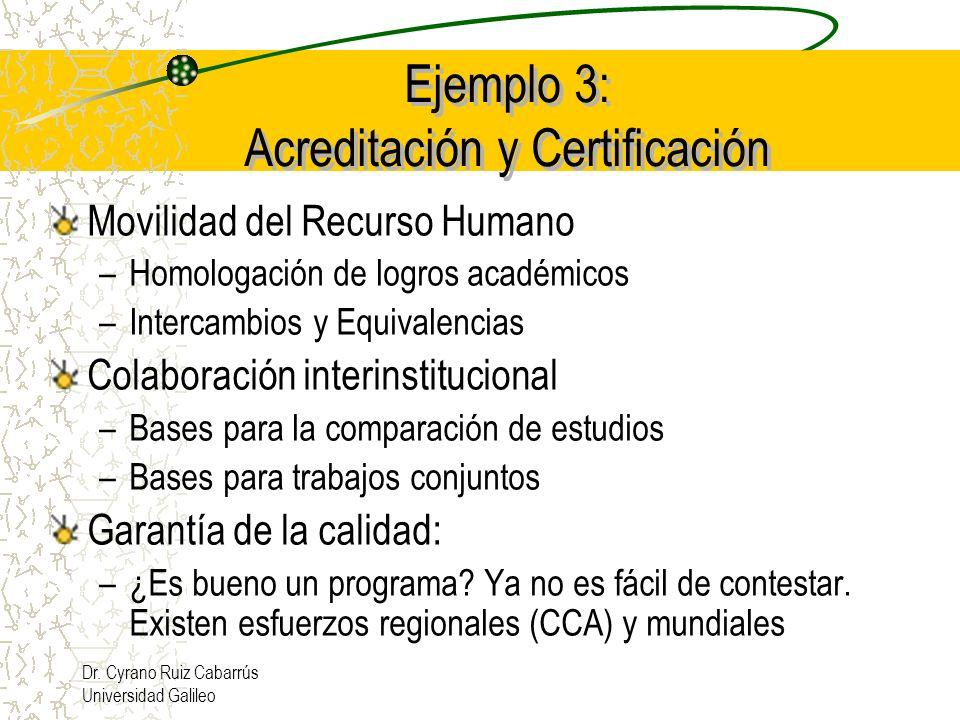 Ejemplo 3: Acreditación y Certificación