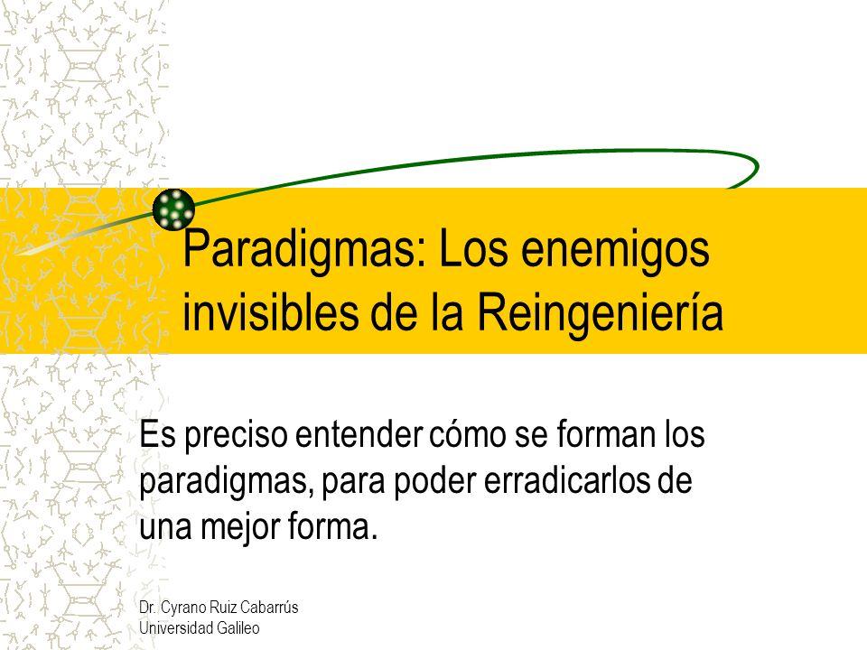 Paradigmas: Los enemigos invisibles de la Reingeniería