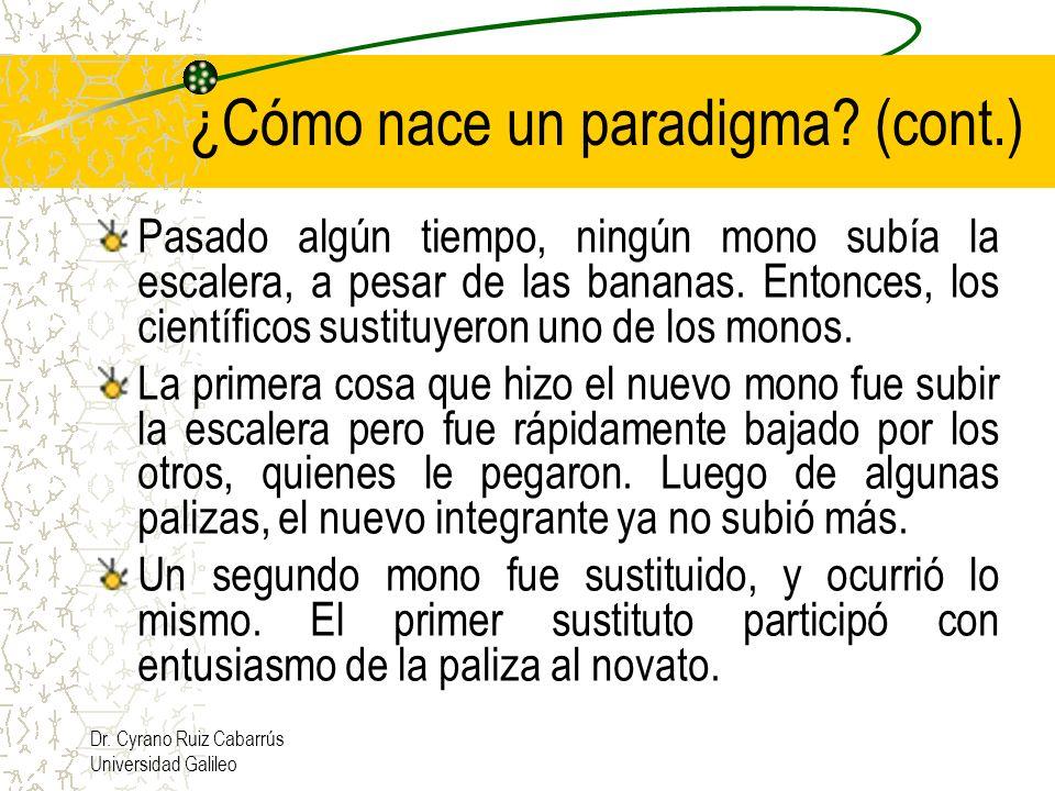 ¿Cómo nace un paradigma (cont.)