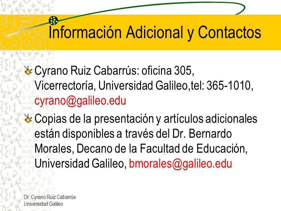 Información Adicional y Contactos
