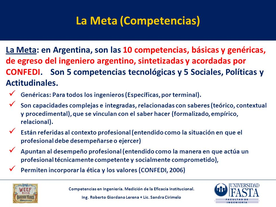 La Meta (Competencias)