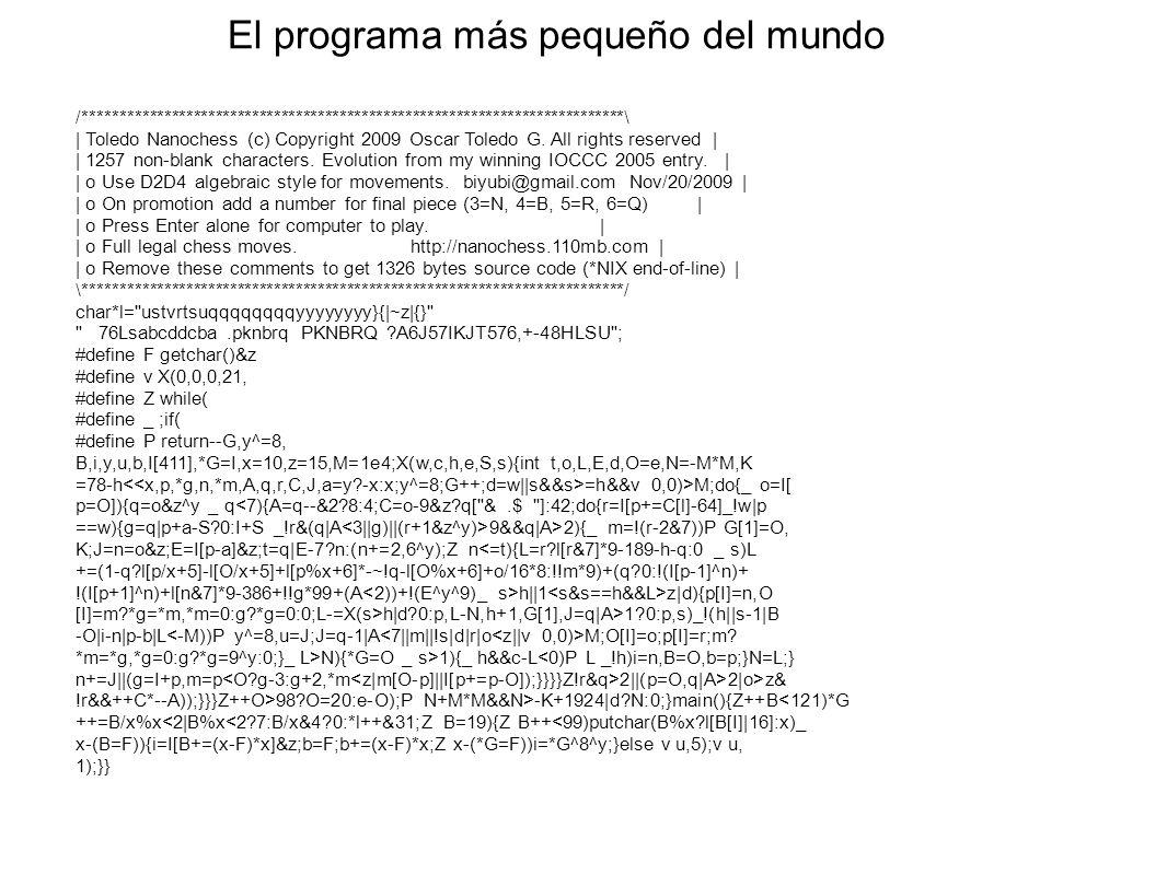 El programa más pequeño del mundo