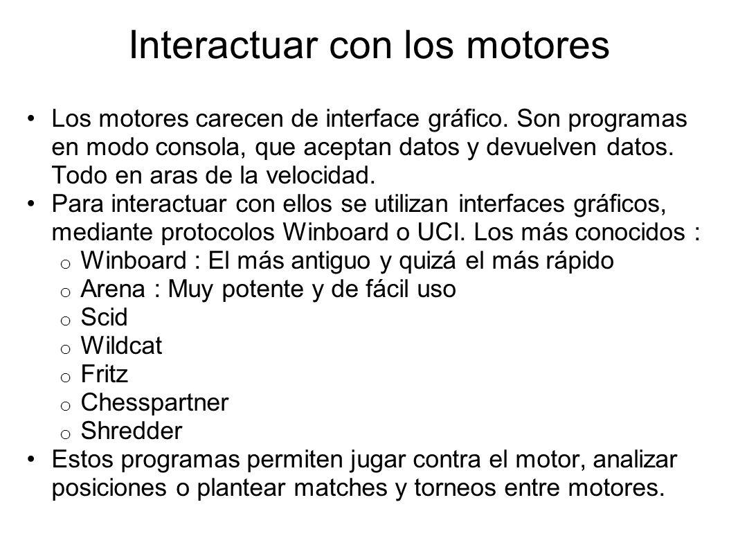 Interactuar con los motores