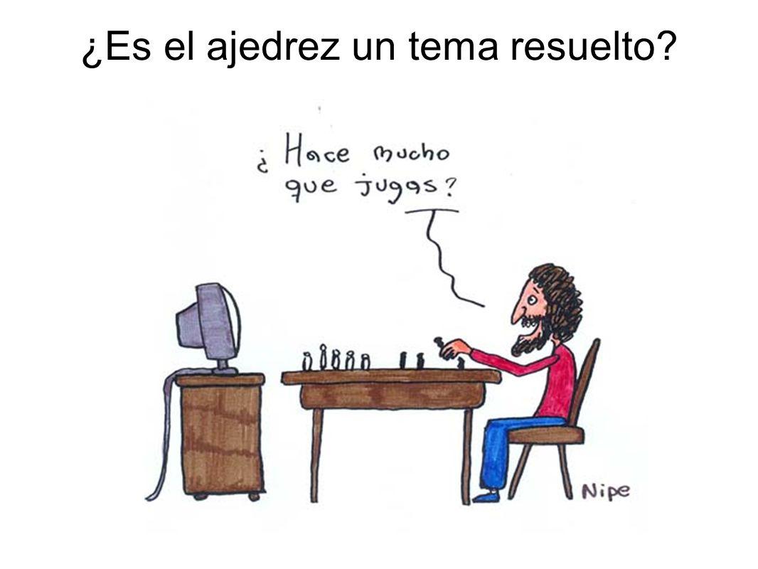 ¿Es el ajedrez un tema resuelto