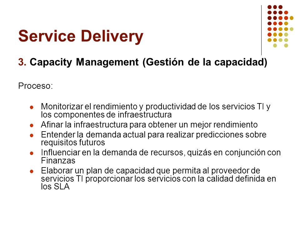 Service Delivery 3. Capacity Management (Gestión de la capacidad)