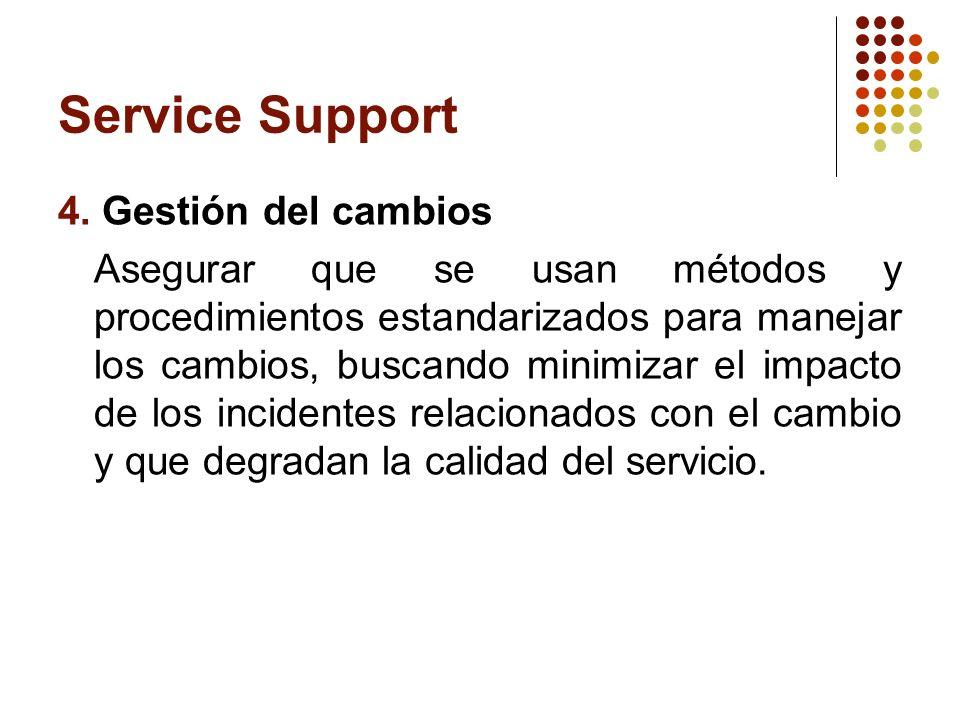 Service Support 4. Gestión del cambios