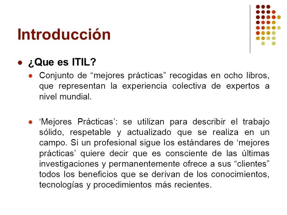 Introducción ¿Que es ITIL
