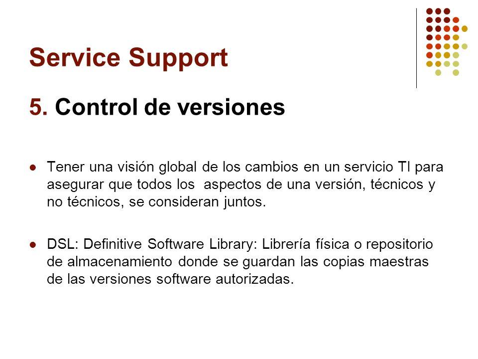 Service Support 5. Control de versiones