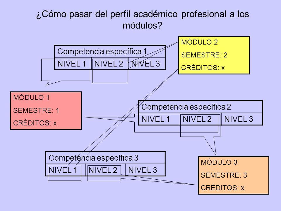 ¿Cómo pasar del perfil académico profesional a los módulos