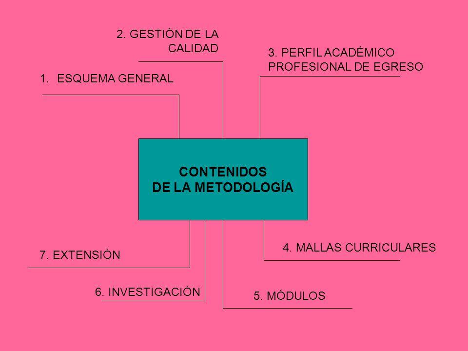 CONTENIDOS DE LA METODOLOGÍA