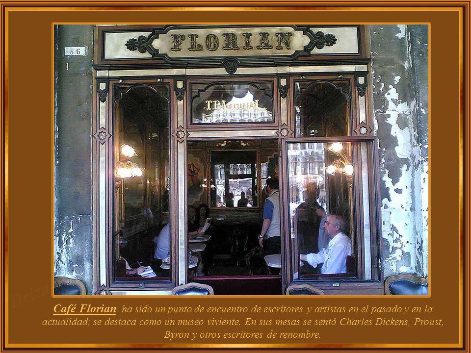 Café Florian ha sido un punto de encuentro de escritores y artistas en el pasado y en la actualidad; se destaca como un museo viviente.