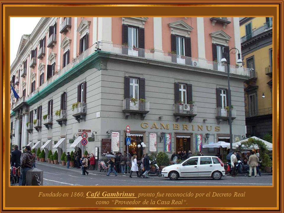 Fundado en 1860, Café Gambrinus pronto fue reconocido por el Decreto Real como Proveedor de la Casa Real .