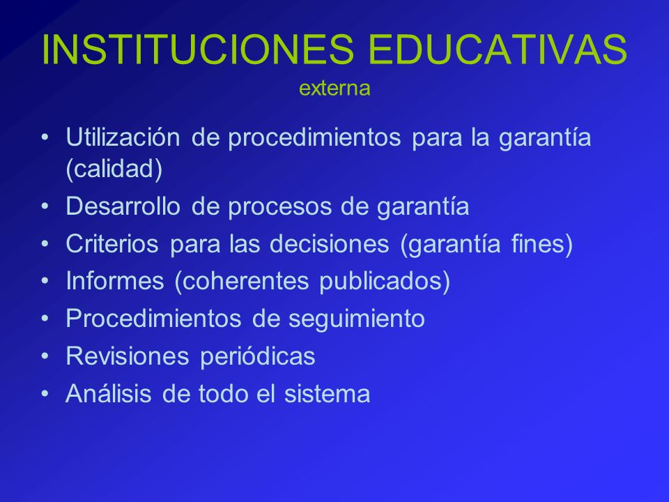 INSTITUCIONES EDUCATIVAS externa