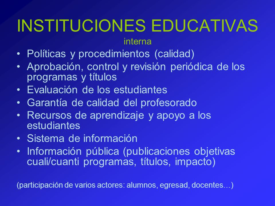 INSTITUCIONES EDUCATIVAS interna