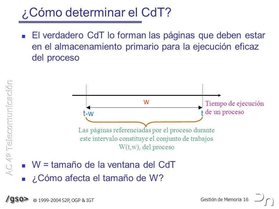 ¿Cómo determinar el CdT
