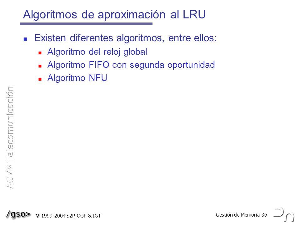 Algoritmos de aproximación al LRU