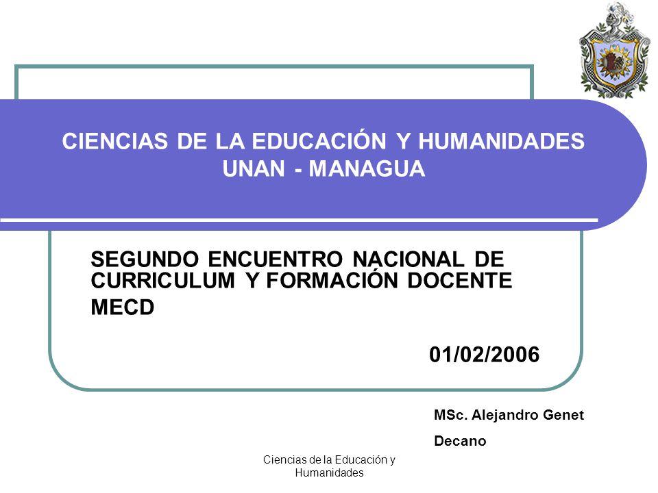 CIENCIAS DE LA EDUCACIÓN Y HUMANIDADES UNAN - MANAGUA