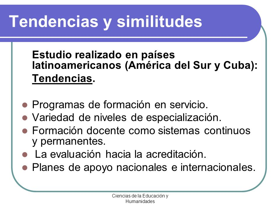 Tendencias y similitudes